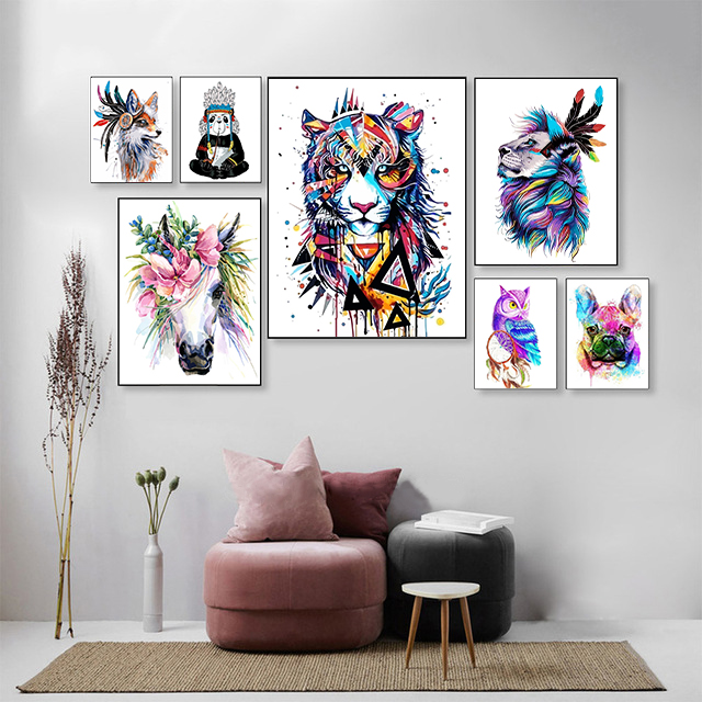H6d147c1431364484bb84ece69f626cf1L SDOYUNO 40x50cm Frameless Painting By Numbers Animals On Canvas Pictures By Numbers Home Decoration DIY minimalism Style
