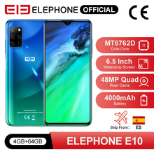ELEPHONE E10 Octa Core Smartphone 4GB 64GB 6.5″ Screen Quad Camera 48MP Main Cam Android 10 NFC Side Fingerprint Mobile Phone