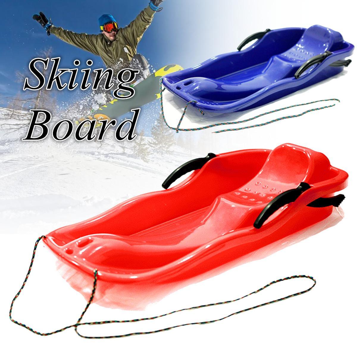Снегоход-ползунок Санки для сноуборда Санки трава песочный коврик с веревкой утолщенный Спорт на открытом воздухе-инструменты для двойных ...