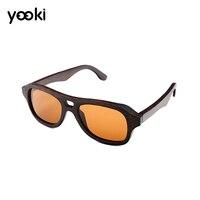 2019 Polarized Sunglasses Wooden Bamboo Women Men Handmade Bamboo Colored Brown Color Sunglasses