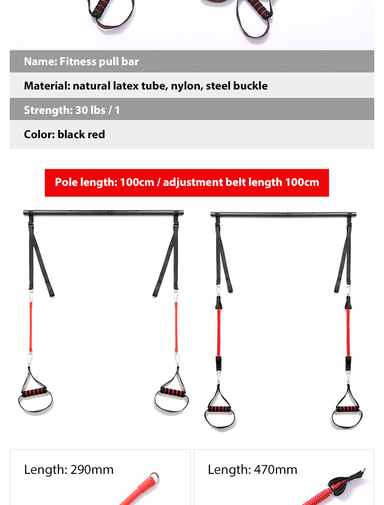Plot - Body Workout Trainer Bar with Resistance Bands