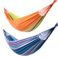 Ultralight Camping Hammock with backpack Hot Sale rainbow Outdoor Leisure Portable Hammock canvas Hammocks For Dropship