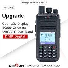 حار TYT MD UV380 DMR اسلكية تخاطب GPS المزدوج الفرقة UHF VHF Tier1/2 الرقمية 5W md380 MD 390 DM 5R DM 8HX MD 380 baofeng DMR MD 380