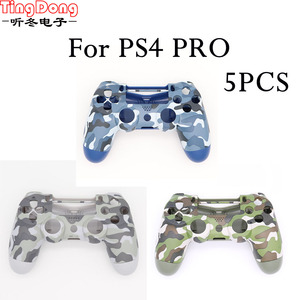 Image 3 - PS4 Pro Blue Camo Front Back Soft Touch Faceplates Housing Shell Case Cover for Sony PS4 Pro JDS040 JDM040 v2 Gen 2th Controller