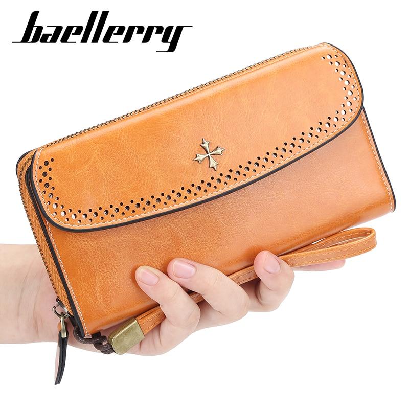 Baellerry 2020 Newest Fashion Wallet Women Slim PU Leather Designer Ladies Purse Housekeeper Female Purse Phone Wallet