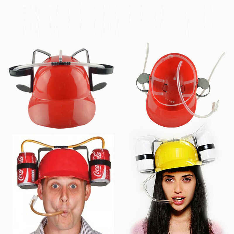 Festa jogo chapéu criativo engraçado cerveja soda bebidas guzzler capacete bebendo chapéus