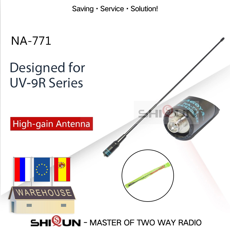 NEW Nagoya NA-771 Baofeng Antenna High Gain Nagoya 771 Dual Band VHF/UHF Walkie Talkie Antenna For Baofeng UV-9R Vhf Uhf Antenna