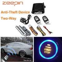 Auto Anti-Diebstahl Gerät Zwei-Weg Keyless-Entry-Start Stop Taste PKE Burlar Alarm System Motor Push Tür schloss Fernbedienung