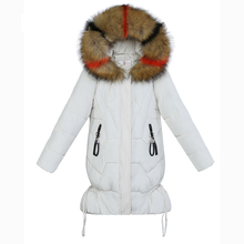 Winter 2019 New Parka Ladies Women A Line Sustans Casual Fur Hooded Thick X Long Zipper Plus Size Snow Jackets Coats Solid