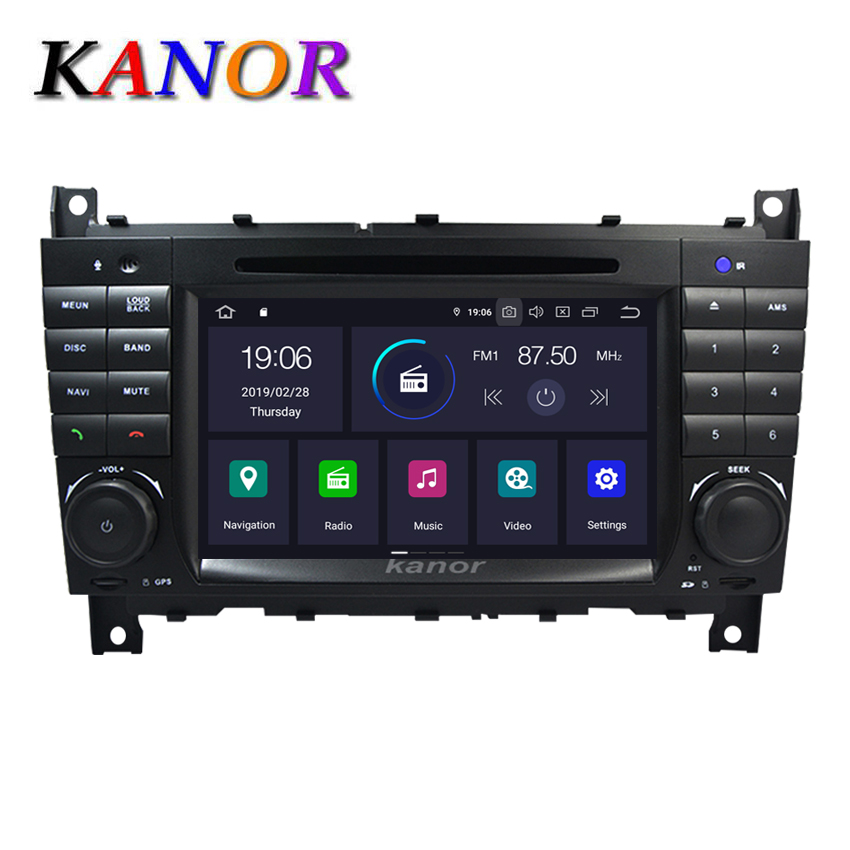 KANOR Car Multimedia DVD Player For <font><b>Mercedes</b></font> Benz <font><b>W203</b></font> S203 C180 C200 GLK W209 W208 C208 C209 <font><b>GPS</b></font> Navigation Autoradio System image