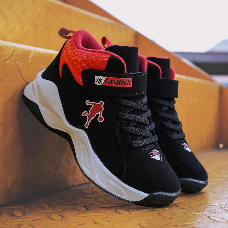 Nuevas zapatillas antideslizantes suaves de alta calidad para niños, zapatos gruesos de baloncesto para niños, zapatos deportivos para niños, zapatos Jordan para niños al aire libre