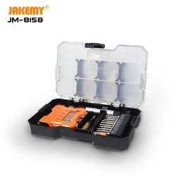 JAKEMY nowy JM-8158 34 w 1 wielofunkcyjny zestaw wkrętaków zestaw nóż do rzeźbienia DIY zestaw narzędzi do naprawy dla elektroniki telefon PC Watch