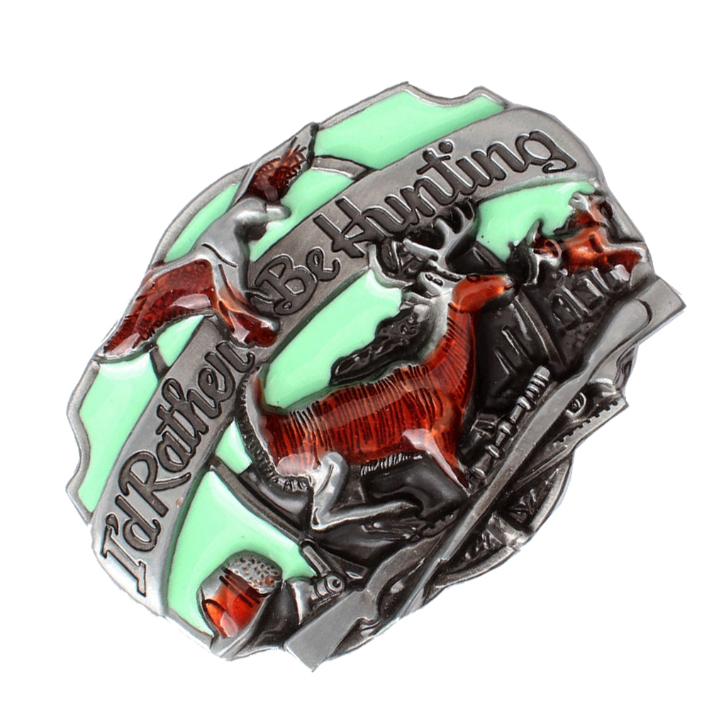 Vintage Eagle Deer Cowboy Western Rodeo Zinc Alloy Belt Buckle Men's Gifts Cool Gift Belt Buckle For Suitable For 3.6-3.9cm Belt