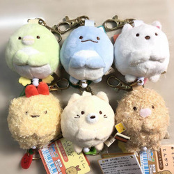 1 Pcs Cartoon Japan Ecke Kreatur Biologie Flexible Schlüssel Ketten Sumikko Gurashi Tier Plüsch Spielzeug Keychain Anhänger Tasche Spielzeug Geschenk
