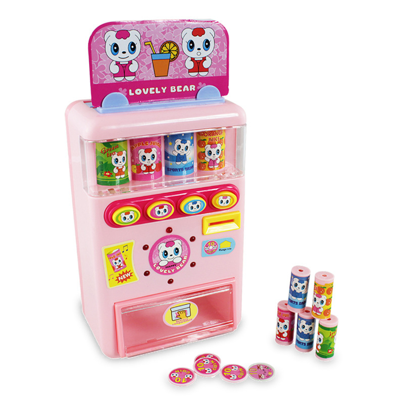 Polaroid 802 Talking Music Vending Machine Automatic Cash Register Children Play House Infants Educational Toy