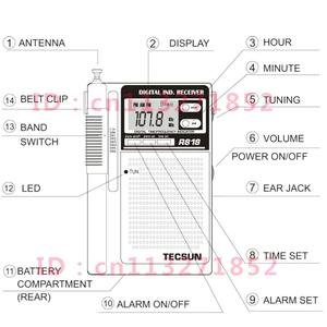 Image 5 - TECSUN R 818 FM/MW/SW радиоприемник с двойным преобразованием мирового диапазона со встроенным динамиком, Интернет радио, портативное радио