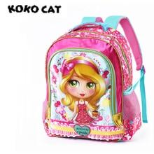 Купить с кэшбэком Cartoon 3D Kids Children School Backpack Cool Girls Bags Girls bookbag  School Backpacks for Teens Girls Student Schoolbag