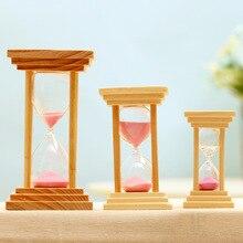 5/10/15Min Wooden Mini Size Sand Sandglass Hourglass Timer Clock Kitchen Timer Home Office Desktop Decoration Gift Dropshipping