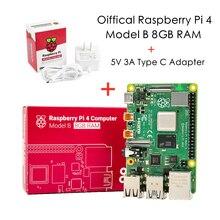 Mais recente raspberry pi 4 modelo b 8gb ram 1.2 versão bcm2711 quad core Cortex-A72 braço v8 1.5ghz 64-bit os com adaptador oficial