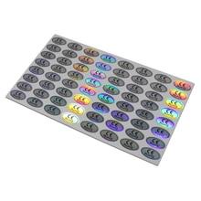 1,1x2 см эллиптические CE RoHs лазерные наклейки для идентификации продукта самоклеящаяся голограмма с липкой этикеткой 3000 шт./лот