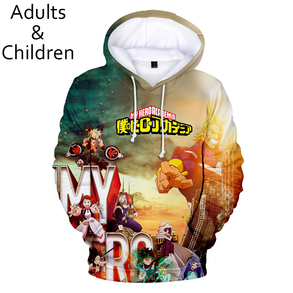 Fashion 3D My Hero Academia Hoodies Men Pullovers Women Hooded Casual Long Sleeve Kids Tops 3D Print My Hero Academia Sweatshirt