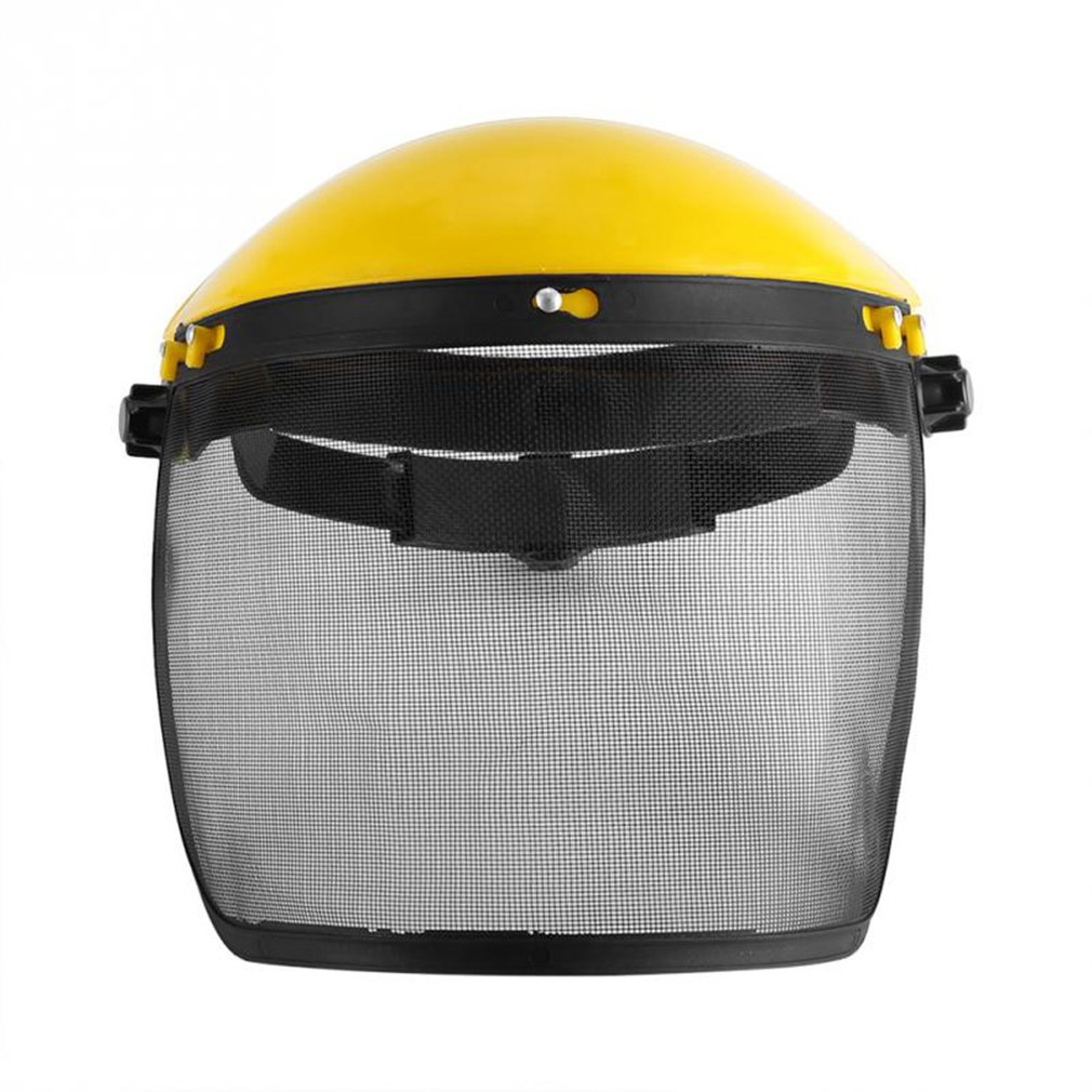 Safety Helmet Mask Mower Face Mesh Protective Mask Explosion-Proof Mask Anti-Impact Surface Screen Labor Insurance Mask