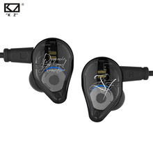 KZ ED16 Earphone 2BA + 1DD Armature & Dinamis Hybrid Headset Earphone HI FI Heavy Bass Sport Earbud dengan 2 Pin kabel KZ ZS10 BA10(China)