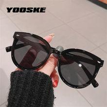 Yooske marca vintage óculos de sol feminino masculino retro redondo óculos de sol senhora ins popular viagem máscaras uv400