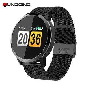 Image 1 - Rundoing q8 rosa versão relógio inteligente tela colorida oled rastreador de fitness monitor sono freqüência cardíaca pressão arterial smartwatch