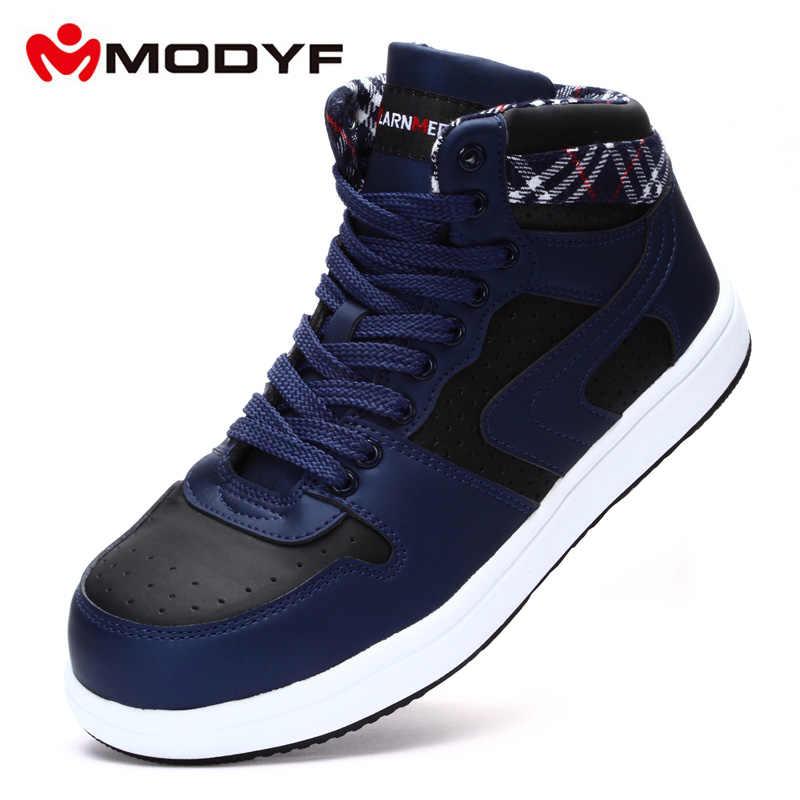 MODYF Güvenlik Botları Nefes Iş Güvenliği Ayakkabıları S3 Erkekler Kadınlar Hafif Çelik Ayak Koruyucu Inşaat Ayakkabıları Artı Siyah & Mavi