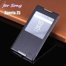 Тонкий чехол для мобильного телефона из искусственной кожи с сенсорным экраном для sony Xperia Z5 E6603 E6633 E6653 E6683