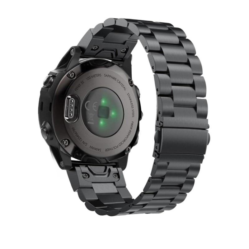 Fenix 6S metalowa bransoletka 20mm stal nierdzewna Metal QuickFit Watch Band pasek dla Garmin Fenix 5S/5S Plus bransoletka zamiennaInteligentne akcesoriaElektronika użytkowa -