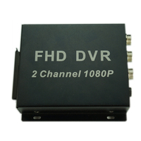 2ch FHD DVR support 1080 AHD Camera 1 channel Car Mobile SD DVR Recorder support sd card Support remote control