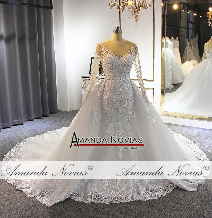 Image 4 - フォーマルドレスの花嫁人魚のレースのウェディングなスカートウェディングドレス   -