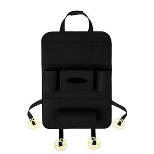 Image 5 - Multi Pocket Car Seat Back Organizer Wool Felt Storage Container Hanging Box Multifunction Vehicle Storage Bag Car styling