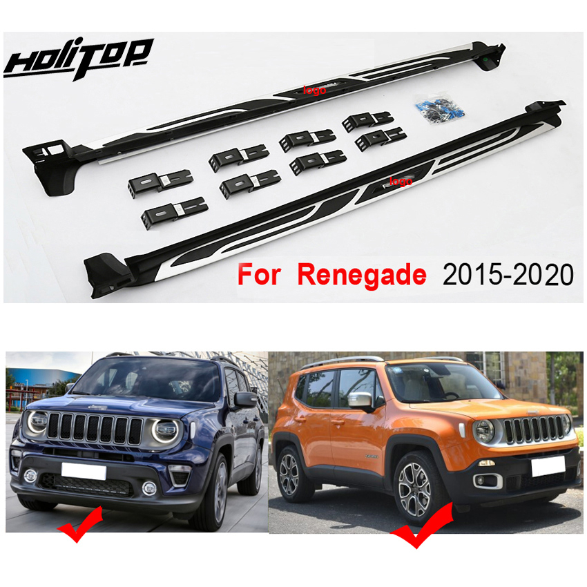 Image 4 - New arrival for jeep Renegade side steps foot steps running board side bar.Newest design,ISO9001 quality.free shipping to Asia.Armrests   -