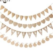 13 шт./компл. джутовая фотография баннер подвеска звезды сердце Шахта ИД мубара баннер гирлянда на день рождения Свадебная вечеринка Декор
