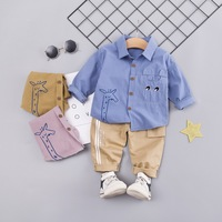 Childrenswear 2019 New Style Autumn Set BOY'S Baby Children 3 Long sleeved Shirt Trousers Two Piece Set 4 Manufacturers Direct S