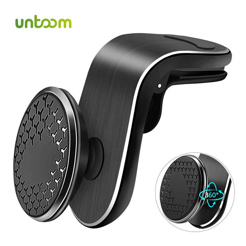 Untoom Magnetic Car Phone Holder Universal Magnet Air Vent Mount In Car Mobile Phone Holder Stand For IPhone 11 Pro Max Samsung