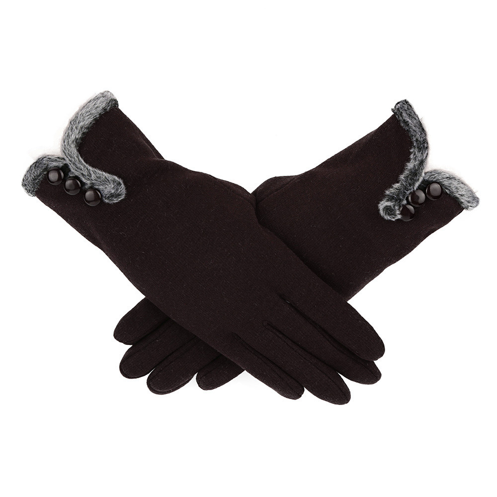 Gloves Women Soft Cashmere Keep Warm Winter Full Finger Gloves Ladies Female Mittens Gloves Plus Velvet Guantes Drop Ship #L5