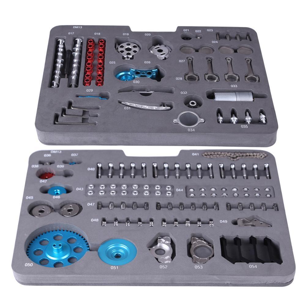 All metal carro mini montar inline quatro cilindro modelo de motor de carro brinquedos modelo kits de quebra cabeça brinquedos para adulto emenda hobby construção - 4