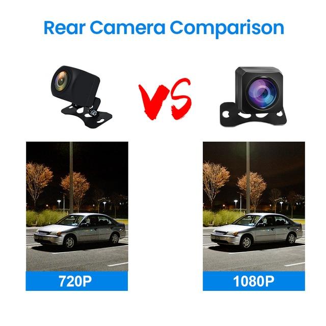 E-ACE Car Mirror Dvr 1080P FHD Dash Cam Dual Lens Video Recorder Night Vision Car Camera Registrar Dvrs With Rear View Camera 5