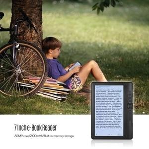 Image 3 - Tragbare 7 Inch 800x480 P E Reader Farbe Bildschirm Glare Freies Eingebaute 4GB Speicher hintergrundbeleuchtung Batterie Unterstützung Foto Betrachtungs/