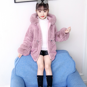 Winter Girls Fur Coat Elegant Baby Girl Faux Fur Jackets And Coats Thick Warm Parka Kids Boutique Clothes