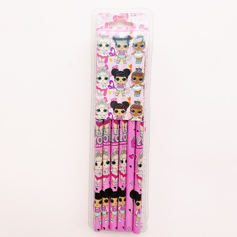 12PCS Surprise Doll Pencil Color Pencil Exam Writing 2B/HB Pencil Unicorn Pencil With Eraser For Kids Birthday Gifts 2C44
