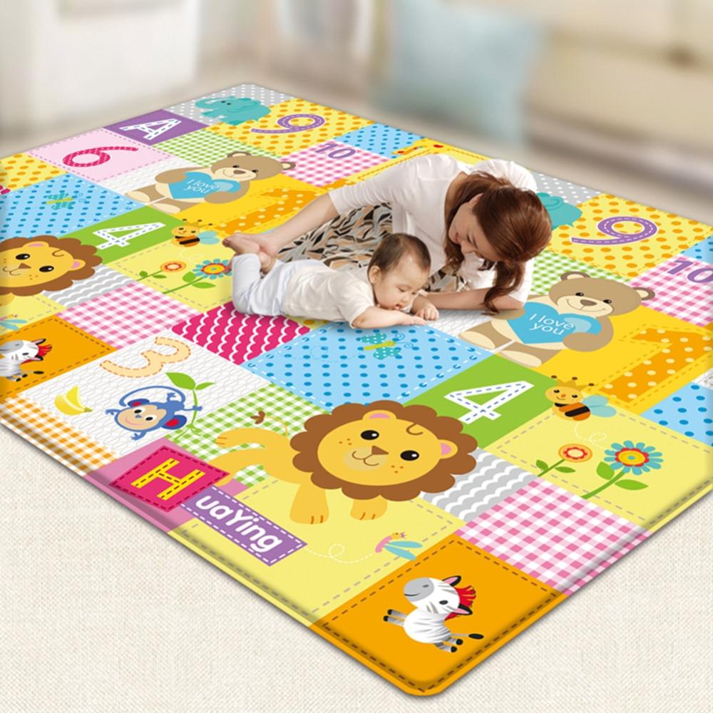 200*180*1 cm bébé tapis rampant doux confortable ramper jeux tapis imperméable antidérapant jeux mousse tapis enfants salle de Gym tapis nouveau