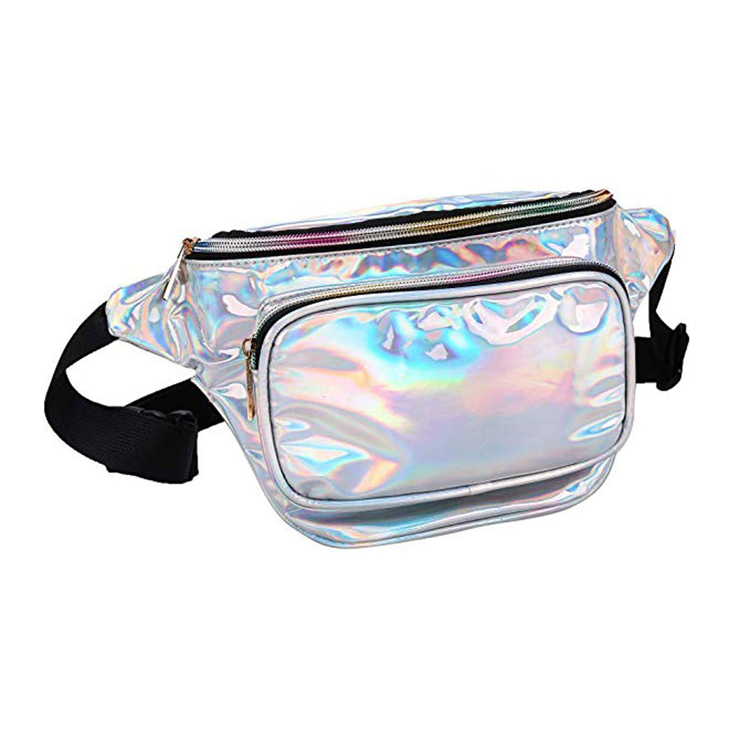 Metallic Hologram Neno Glitter Fashion Cross Body Laser Travel Girls Women Holographic Fanny Pack Woman Waist Bag
