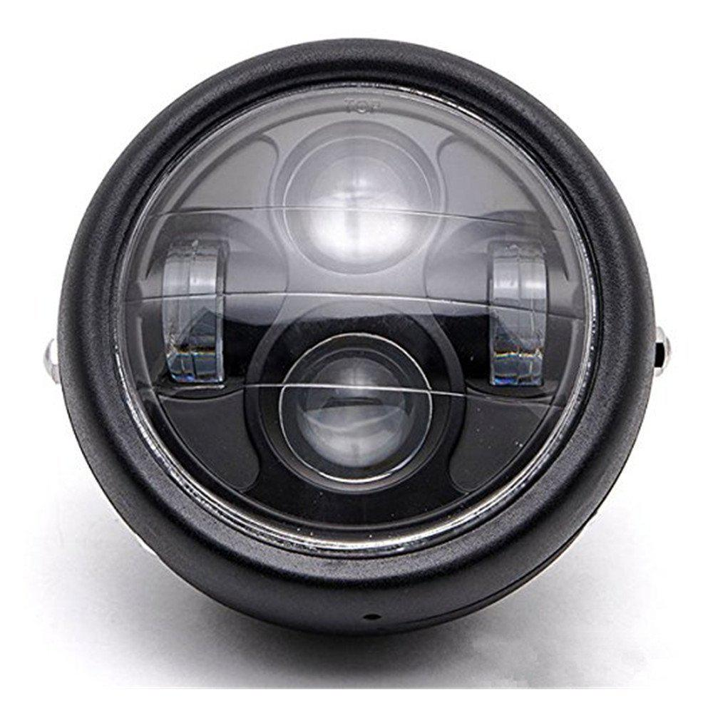 Motorcycle Headlight 12V LED Metal Headlight Projector Head Lamp For Cafe Racer Headlight Led Moto Motorcycle Accessories