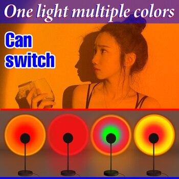 LED Projection Lamp Sunset Light Night LED Sunset Bulb Color Lamp 5V USB Rainbow Lamp Desk LED Decoration Atmosphere Lighting 1