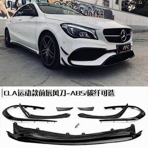 Для Mercedes Benz CLA Class CLA45 AMG спортивная версия 2016-2018 глянцевый черный передний бампер спойлер разветвители Canards вентиляционные отверстия 8 шт
